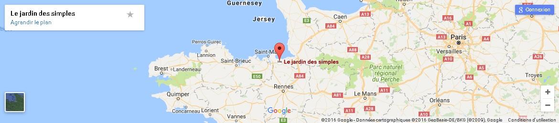 Situation et accès au domaine 'Jardin des simples' et 'Château de Mont-Dol' à Mont-Dol, Bretagne, France